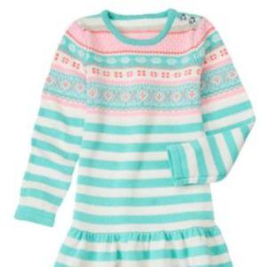 Gymboree Snowflake Glamour Sweater Dress Size 6